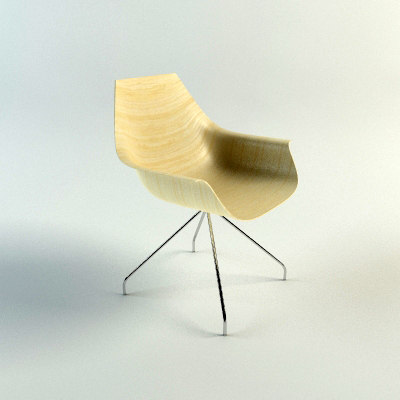 3d model cox chair: mentalray materials