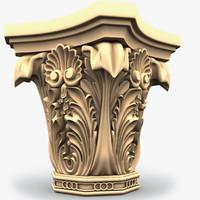 3d model column capitel