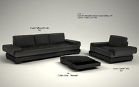 couch solo 3d model