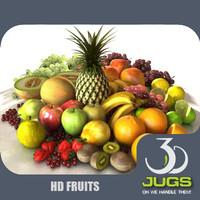fruits 3djug 3d model