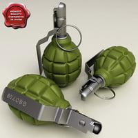 3d grenade 1 model
