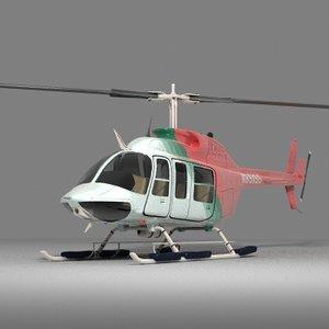 jet ranger helicopter 3d lwo