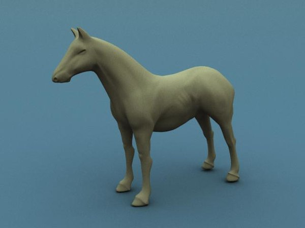 3d horse mesh model