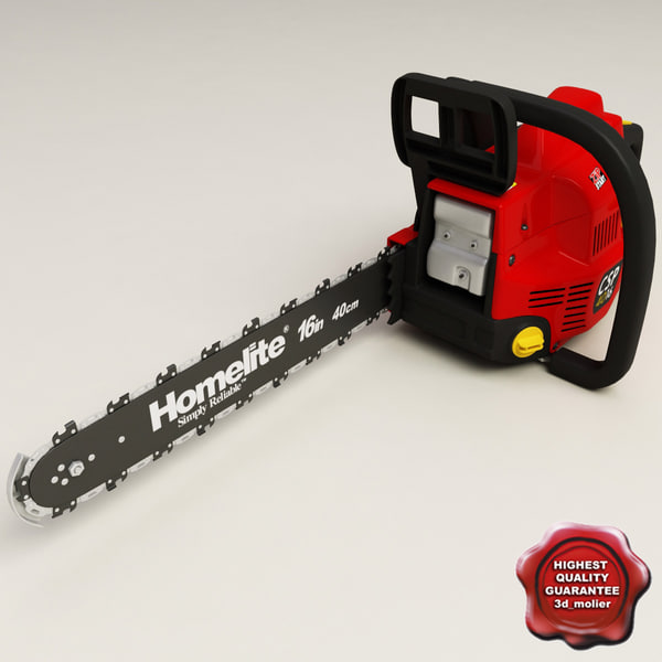 homelite gas chain saw 3d model