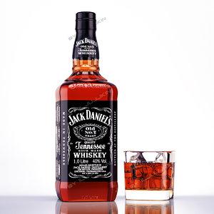 jack daniels glass 3d model