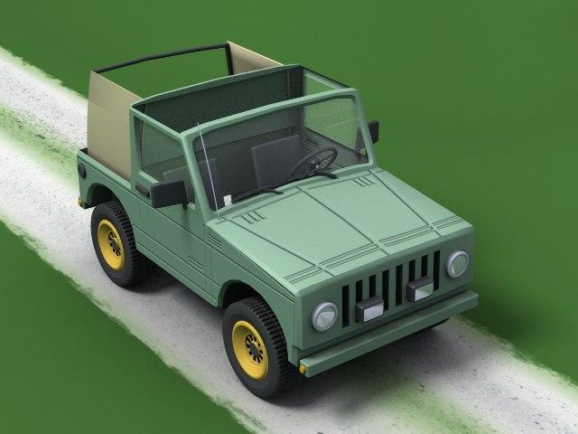 jeep military 3d obj