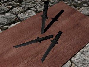 3ds max ka-bar tanto knife blade