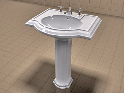 D Realistic Kohler Devonshire Waterworks - Kohler devonshire bathroom collection