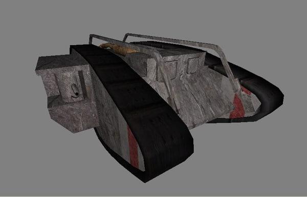 free 3ds model mark v tank