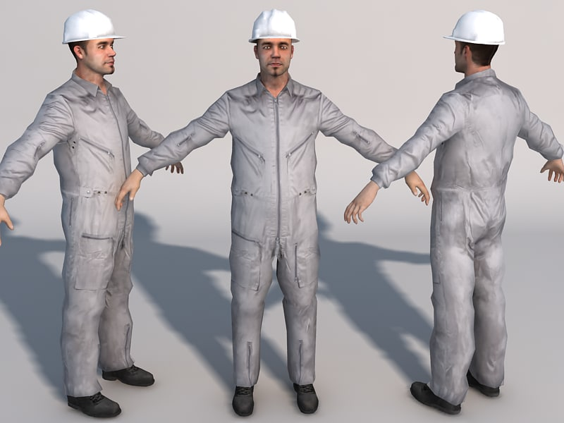 games mechanic 01 3d model