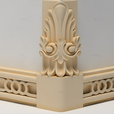 3d knob decoration moulding model