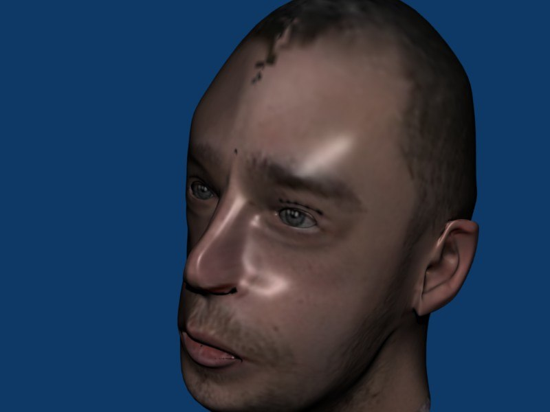 male head 3d 3ds