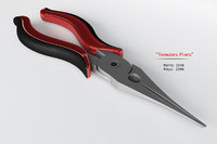 3d model of tweezers pliers