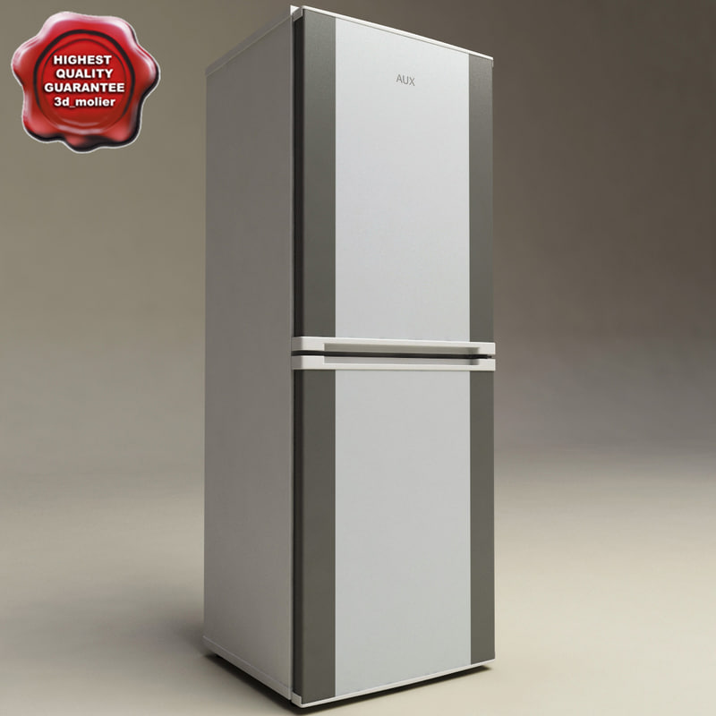 refrigerator aux 3d model