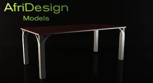 della desk 3d model