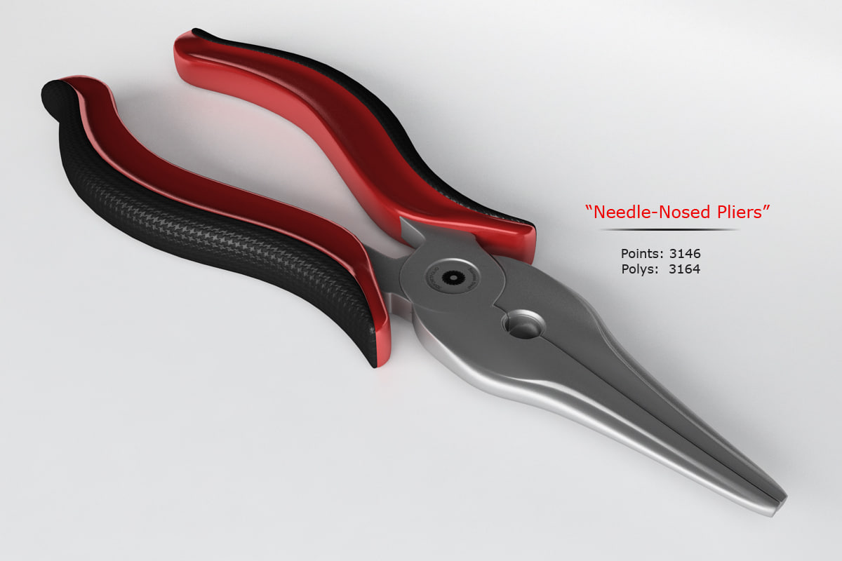 needle nosed pliers 3d model