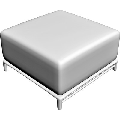 3d model ottoman table