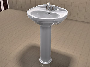 realistic toto whitney moen 3d max