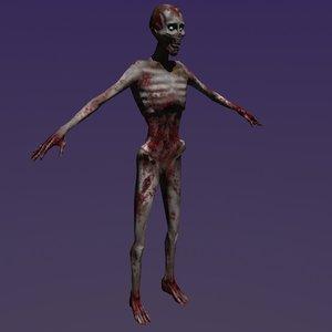 male zombie 3d model