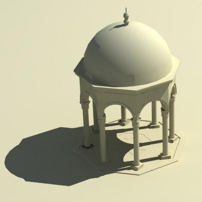 3d model dome gazebo