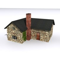 3d model of cottage house
