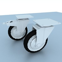 castor industrial 3d model