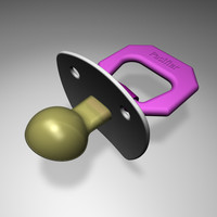 pacifier modeled 3d c4d