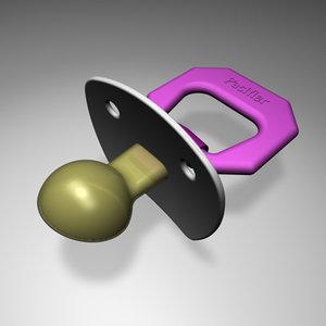 pacifier modeled 3d c4d