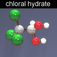 3d molecule chloral hydrate