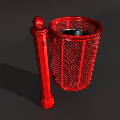 street bin 3d model