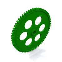 64 tooth gear 3d model