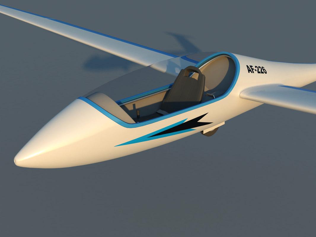 3ds max schempp-hirth discus glider