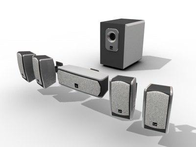 speaker acoustic 3d model