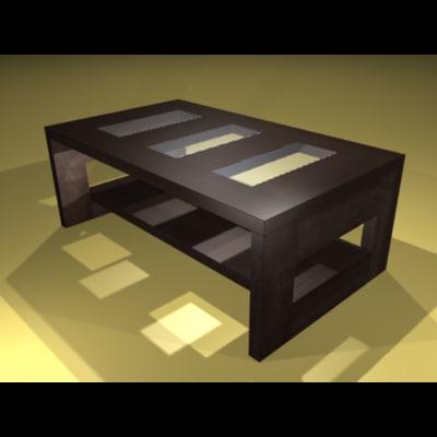 3d lwo coffee table dake