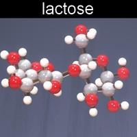 molecule lactose 3d max