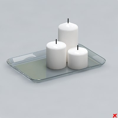 free candle 3d model