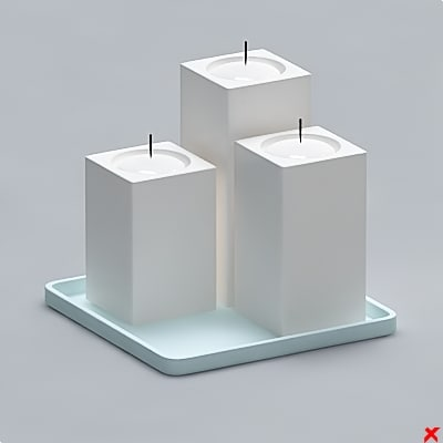 free 3ds model candle