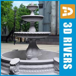marble fountain 3d model