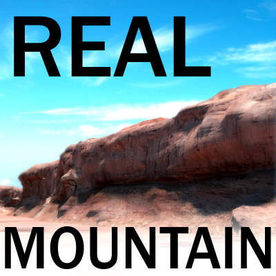 3d model mountain - arizona