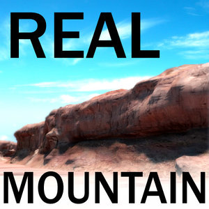 3d model mountain - arizona