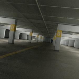 underground parking car vehicle 3d model