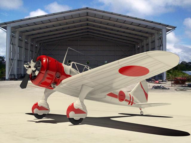 3d model airplane war