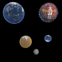 planets earth 3d max