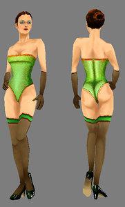 woman girl human 3d model