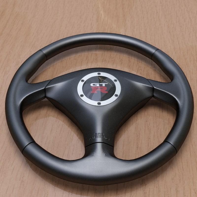 steering wheel 3d ma
