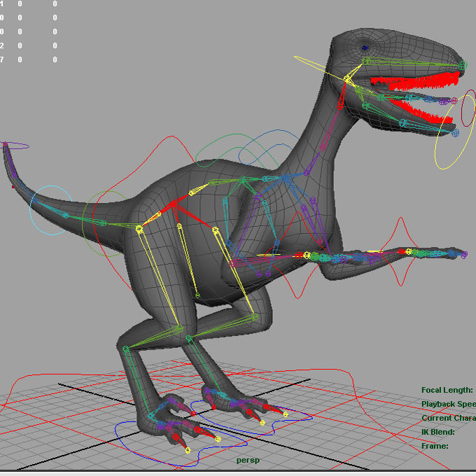 3d model modelled rigged