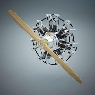 engine radial 3d model