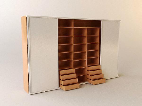 3dsmax wardrobe wardrove interior