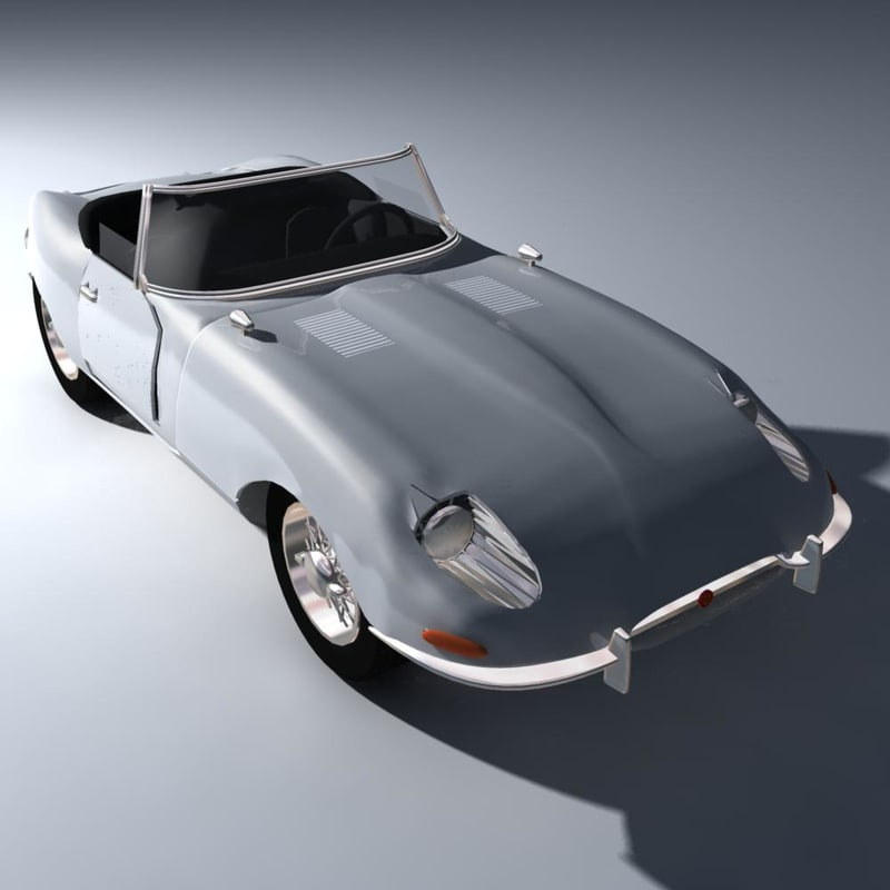 e-type modeled 3d model