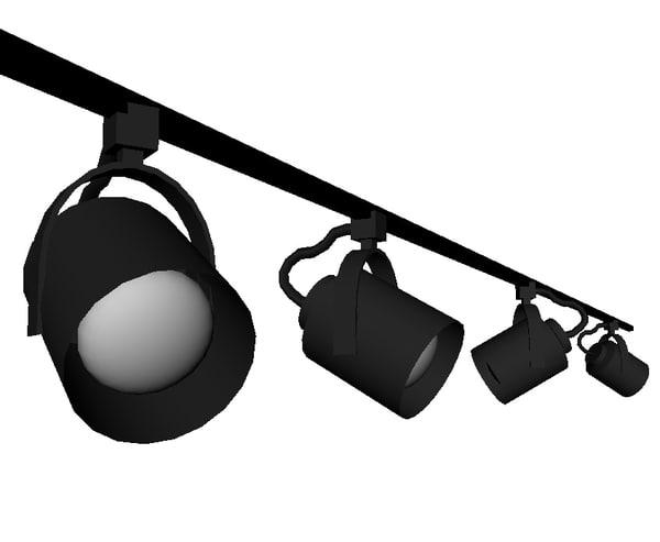 track lights 3d model